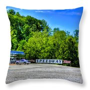 Speedway Diner Throw Pillow