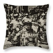 Speedy Motorcycle Throw Pillow