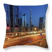 Speedy Road Throw Pillow