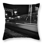 Speedy Train At Kings Cross Throw Pillow