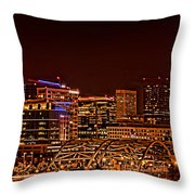 Speer Blvd Bridge Throw Pillow