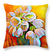 Spektrel Flowers Throw Pillow