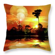 Spektrel Reflected 2 Throw Pillow