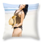 Spellbound Beach Beauty Throw Pillow
