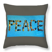 Spelling Peace Throw Pillow