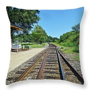 Spencer Railroad Station 2 Throw Pillow