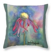 Spent Flower Throw Pillow