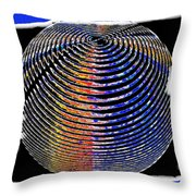 Sphere In Blue Throw Pillow