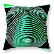 Sphere In Green Throw Pillow