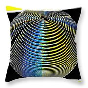 Sphere In Yellow Throw Pillow