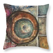 Spheres Abstract Throw Pillow