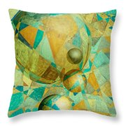 Spheres Of Life's Changes Throw Pillow