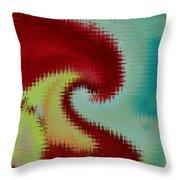 Spherical Colours Throw Pillow
