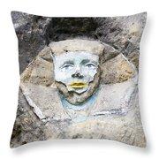 Sphinx - Rock Sculpture Throw Pillow
