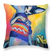 Sphynx Cats Friends Throw Pillow
