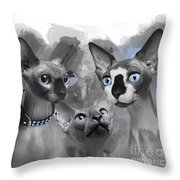 Sphynx Group No 02 Throw Pillow