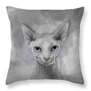 Sphynx No 19 Throw Pillow