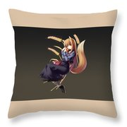 Spice And Wolf Throw Pillow