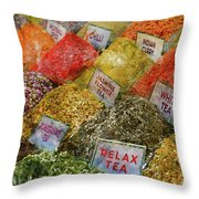 Spice Market In Istanbul Throw Pillow