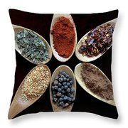 Spice Round Throw Pillow