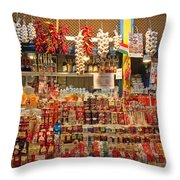 Spice Stall Throw Pillow