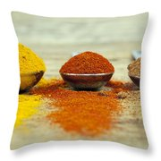 Spices Throw Pillow