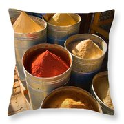 Spices In Marrakesh Morroco Throw Pillow