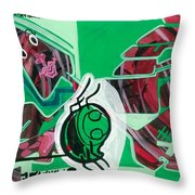 Spider And Human Faces Throw Pillow