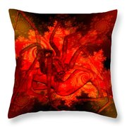 Spider Catches Virgin In Space Throw Pillow