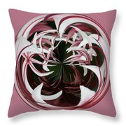 Spider Lily Orb Throw Pillow