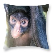 Spider Monkey Vertical View Throw Pillow