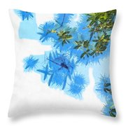 Spider Or Plants Throw Pillow