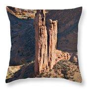 Spider Rock - Canyon De Chelly Throw Pillow