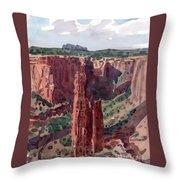 Spider Rock Overlook Throw Pillow