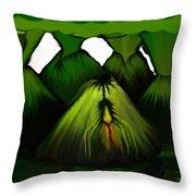 Spider Volcano Progression 5 Throw Pillow