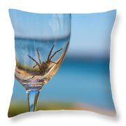 Spider Wine Throw Pillow