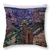 Spider Woman Rock Three Throw Pillow