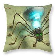 Spiderlamp Throw Pillow