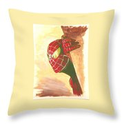 Spiderman Hiding Throw Pillow