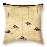 Spiders For Halloween Throw Pillow