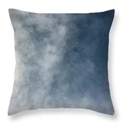 Spiderweb Against The Sky Throw Pillow