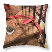 Spike Was Here Throw Pillow