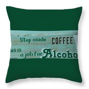 Spiked Coffee Throw Pillow