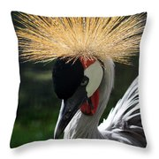 Spiked Crane Throw Pillow