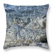 Spikey Frothy Splash Of A Momenary Water Sculpture Throw Pillow