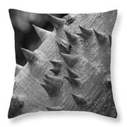 Spikey Thorny Tree Throw Pillow