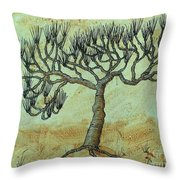 Spikey Tree No. 2 Throw Pillow