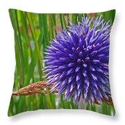 Spiky Blue Throw Pillow