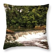 Spillway Early Morning Throw Pillow