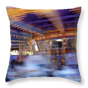 Spin Fast Throw Pillow